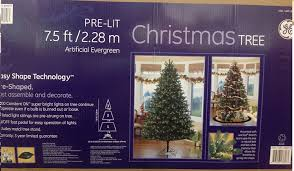 tree pre lit 7 5 ft 2 28m artifical