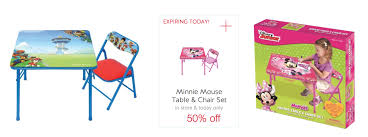 target 50 minnie mouse paw patrol junior table u0026 chair