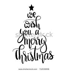 we wish you merry christmasunique stock vector 712030696