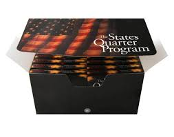 First State Quarters Of The United States Collectors Map by State Quarter Collection Box State Quarters Coins Of America