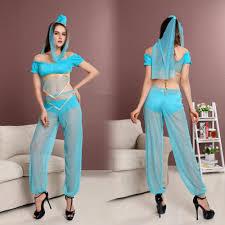 women genie aladdin cosplay princess jasmine costume fancy