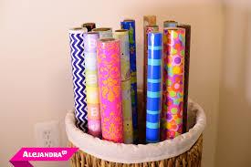 gift wrap storage ideas gift wrap organizer