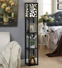 Shelf Floor Lamp Glass Shelf Floor Lamp Grayling Satin Steel Shelf Floor Lamp
