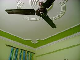 modern ceiling border design around fan home combo
