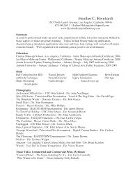 Cosmetology Resume Skills Professional Makeup Artist Resume Resume For Your Job Application