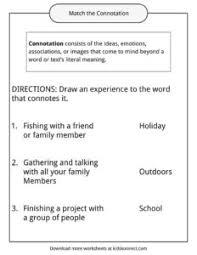 connotation worksheets phoenixpayday com