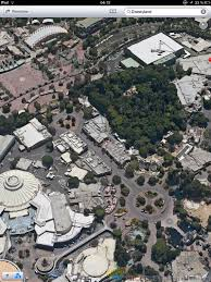 halloween horror nights map 2016 flying over the disneyland resort with apple maps