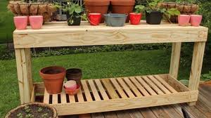 how to make simple and easy potting bench tools required