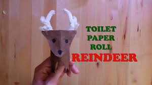 how to a make toilet paper roll reindeer cute diy craft youtube