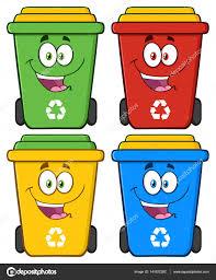 imagenes animadas sobre el reciclaje personajes de dibujos animados de bin de reciclaje feliz vector de