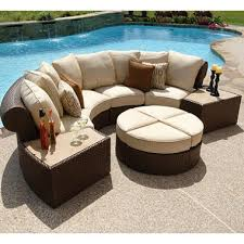 Outdoor Patio Furniture Sectional Isola Wicker Outdoor Patio Sectional Furniture Set 7 Pc Sam S