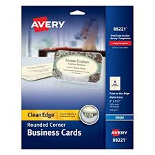 Round Business Cards Uk Clean Edge Inkjet Business Cards Ivory Round Edge 2 X 3 1 2