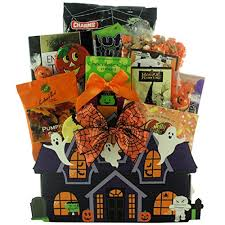 ghostly goodies halloween gift basket small