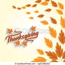 happy thanksgiving autumn background vector clipart