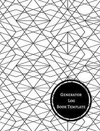 generator log book template generator maintenance log journals