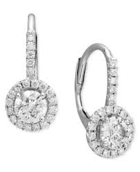 leverback diamond earrings diamond leverback earrings in 14k white gold 1 2 ct t w