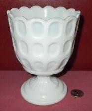 milk glass pedestal bowl ebay