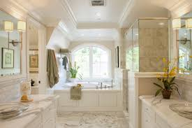 bathroom luxury bathroom design with large wall mirror and