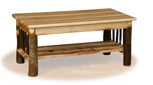 amazon com rustic hickory coffee table oak top and shelf amish