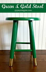 gold vanity stool green u0026 gold stool gypsy magpiegypsy magpie