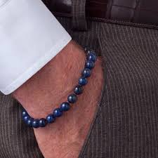 beading bracelet clasp images Scott kay blue lapis beaded bracelet with sterling silver engraved jpg