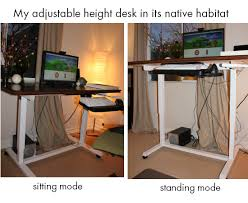 diy adjustable standing desk catchy diy adjustable standing desk why an adjustable height desk is