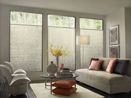 living room living rooms with blinds window treatments for three