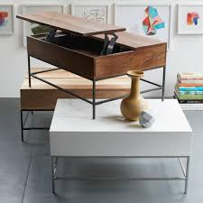 Storage Coffee Table by Industrial Storage Coffee Table West Elm Uk