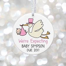 personalized baby due 2018 ornament