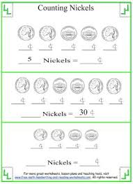 counting money for kids nickel worksheets