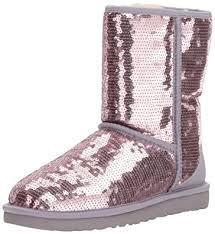 amazon com ugg australia s boots mid calf amazon com ugg s sparkles heathered lilac boot