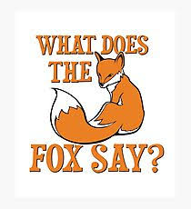 What Did The Fox Say Meme - what does the fox say meme wall art redbubble