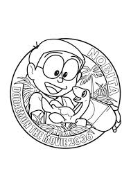 nobita in doraemon the movie coloring page boys pages of
