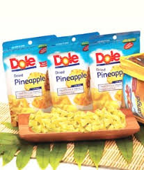 dole fruit snacks plantation fruits dried pineapple 80 gram