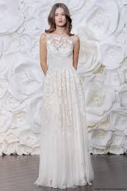 illusion neckline wedding dress naeem khan fall 2015 a line wedding dress with an illusion high