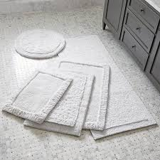 White Bathroom Rug Ultra Spa White Bath Rugs Crate And Barrel