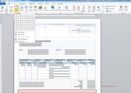 invoice template word 2010 fax templates in hourly service with