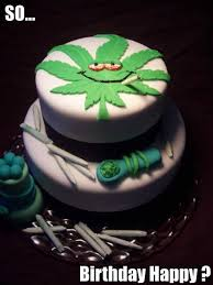 Meme Cake - a collection of weed birthday cakes