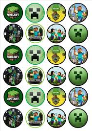 minecraft cupcakes minecraft edible premium wafer paper cupcake toppers