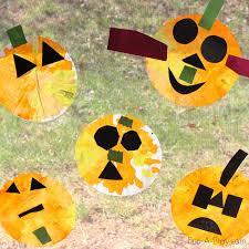 halloween art activities with coffee filters