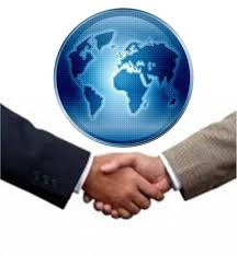 agreement handshake world globe hand backgrounds template ppt