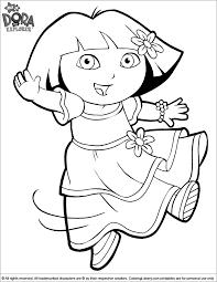 dora explorer pretty princess dress coloring sheet