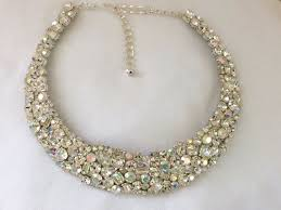 crystal necklace swarovski images Swarovski crystal mosaic bridal collar statement necklace the jpg