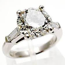 3 carat engagement rings vintage engagement ring 3 carat solitaire w accents