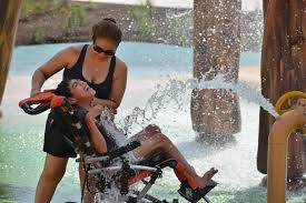 this water park is designed for people with disabilities u0026 their