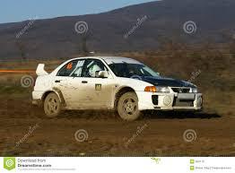mitsubishi evo rally car rally car mitsubishi evo vi royalty free stock images image