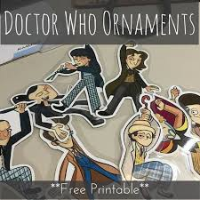 doctor who ornaments free printable ornament