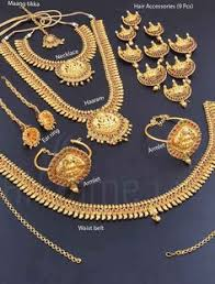 gold set for marriage royal american diamond bridal set for rent and buy the wedding