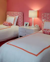 coral bedspread bedroom contemporary with duvet cover greek key