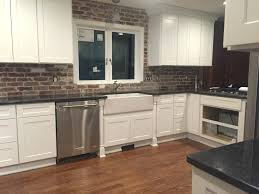 brick kitchen backsplash kitchen brick backsplash rustic black white tile